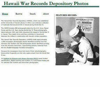 Hawai'i War Records (HWRD) Photographs